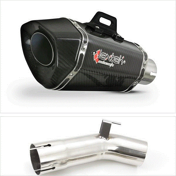 Lextek XP8C Carbon Fibre Hexagonal Exhaust Kit for Suzuki GSX-S 1000 F (15-20)