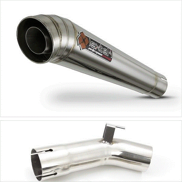 Lextek MP4 S/Steel Megaphone Exhaust Kit for Suzuki GSX-S 1000 F (15-20)
