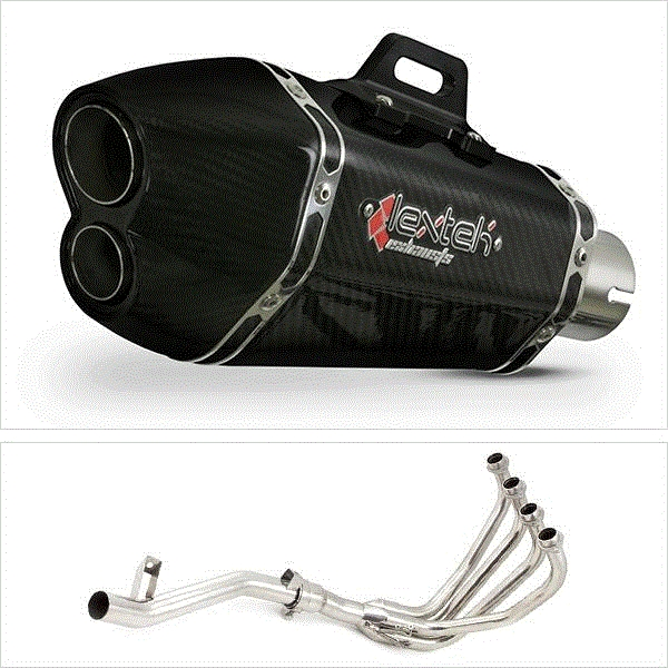 Lextek XP13C Carbon Fibre Hexagonal Exhaust System for Suzuki GSF 1200 Bandit (95-06)