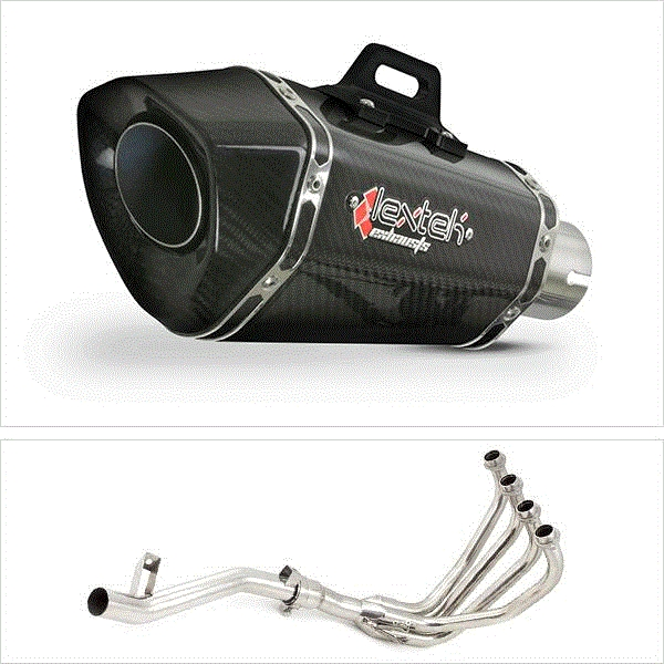 Lextek XP8C Carbon Fibre Hexagonal Exhaust System for Suzuki GSF 600 Bandit (95-04) GSF 650 (05-06)