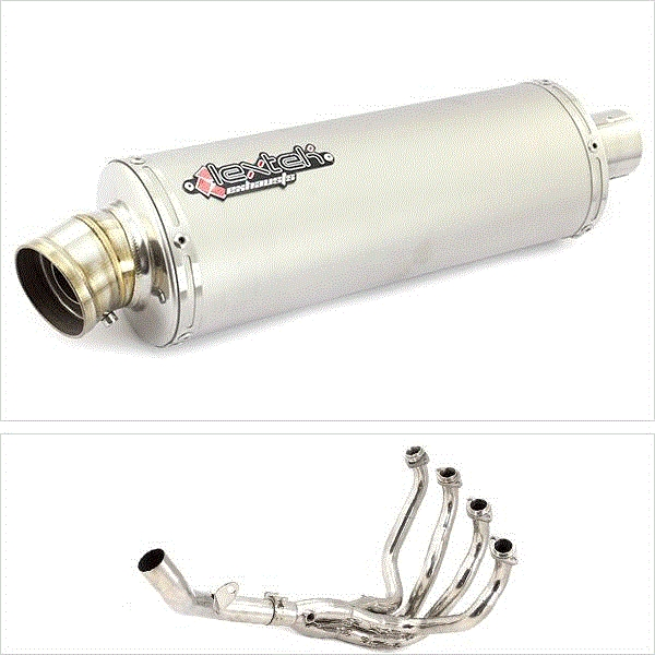 Lextek OP1 Matt S/Steel Exhaust System for Kawasaki Z800 (13-16)