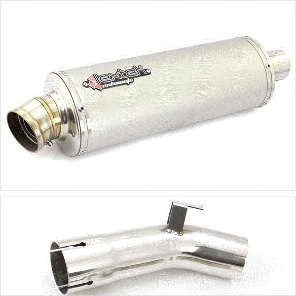 Lextek OP1 Matt S/Steel Exhaust Kit for Suzuki GSX-S 1000 F (15-20)