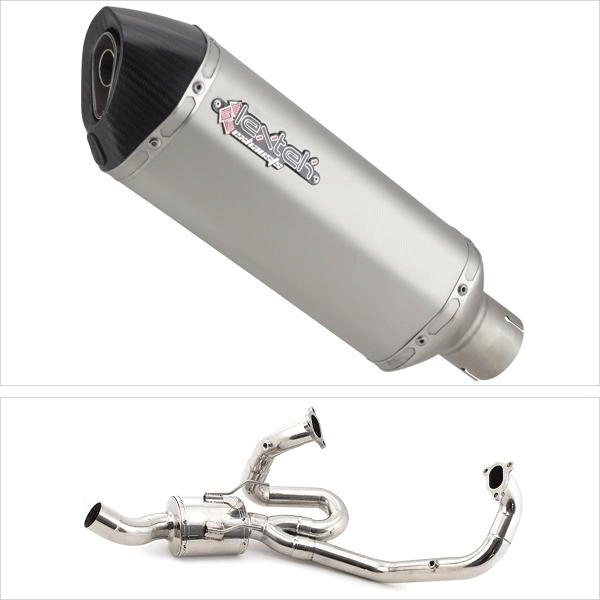 Lextek ST1 Matt S/Steel Hexagonal Exhaust System for KTM 1290 Super Duke (14-18)