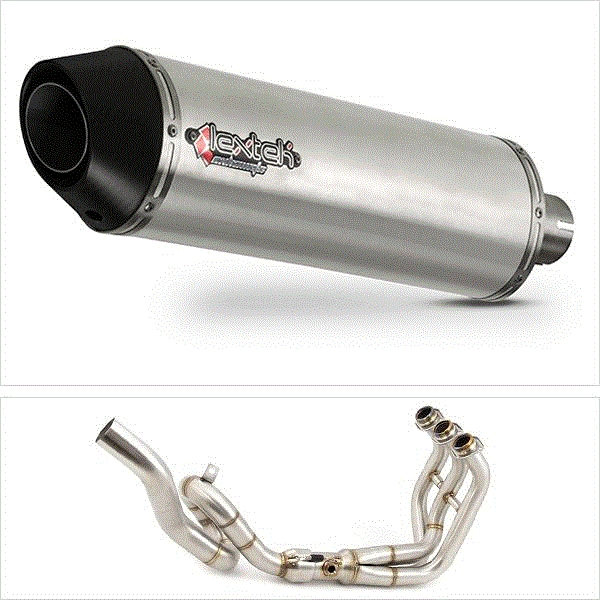 Lextek RP1 Matt S/Steel Oval High Level Exhaust System for Yamaha MT-09 / Tracer 900 (13-18)