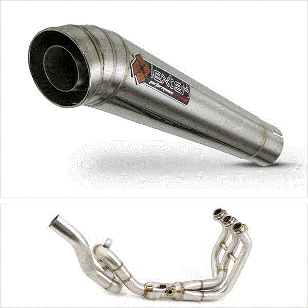 Lextek MP4 S/Steel Megaphone High Level Exhaust System for Yamaha MT-09 / Tracer 900 (13-18)
