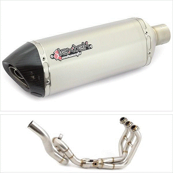 Lextek SP1 Matt S/Steel Hexagonal High Level Exhaust System for Yamaha MT-09 / Tracer 900 (13-18)