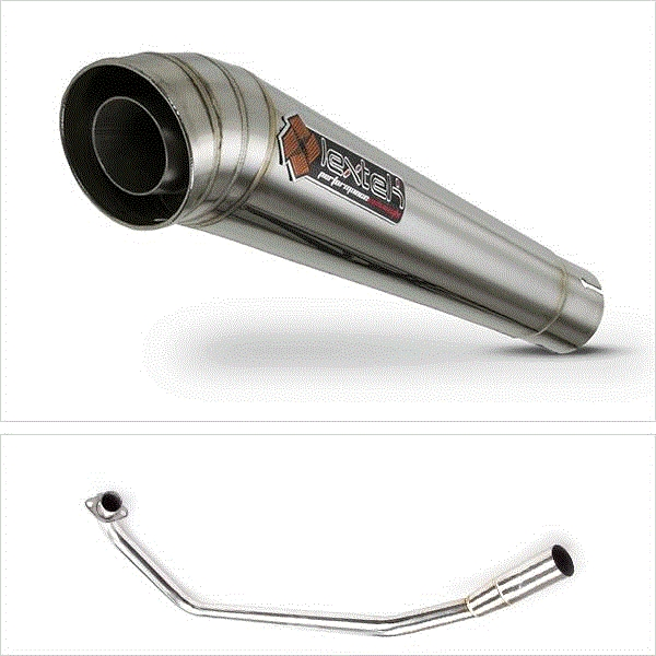 Lextek MP4 S/Steel Megaphone Exhaust System for Suzuki GSX-R 125 (17-18) GSX-S 125 (17-18)