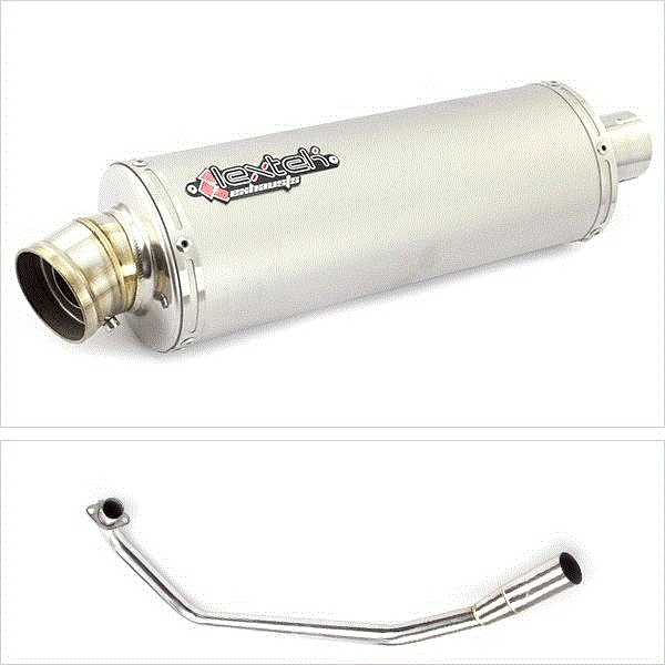 Lextek OP1 Matt S/Steel Exhaust System for Suzuki GSX-R 125 (17-18) GSX-S 125 (17-18)