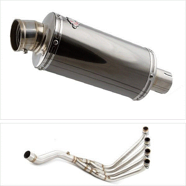 Lextek OP16 Black Chrome Exhaust System for Honda CBR650F/CB650F (14-19)