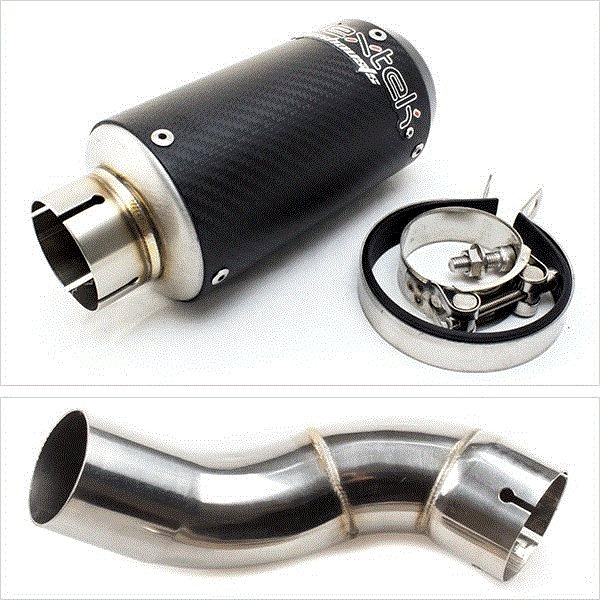 Lextek CP8C Full Carbon 150S Exhaust Kit for Kawasaki Z900 (17-19)