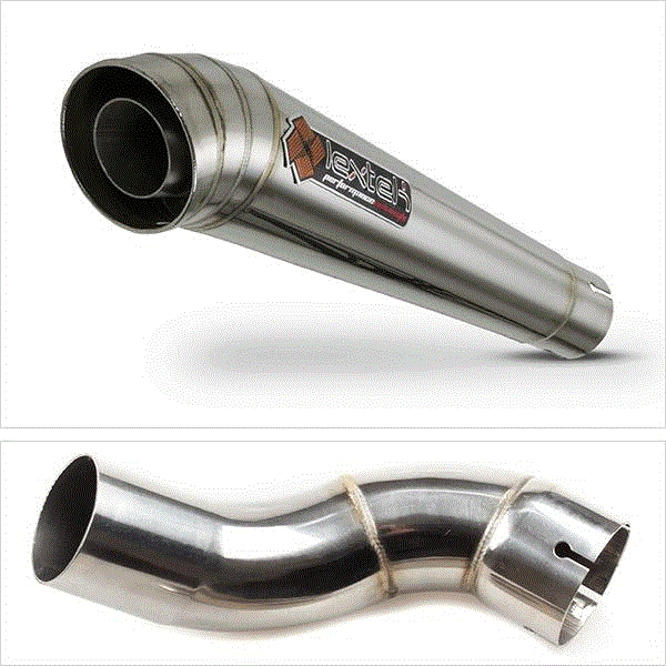 Lextek MP4 S/Steel Megaphone Exhaust System for Kawasaki Z900 (17-19)