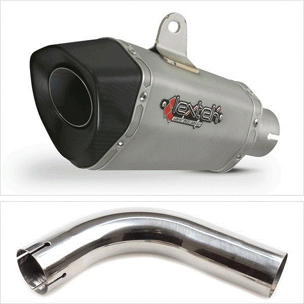Lextek XP10 Titanium Look Hexagonal Exhaust with Link Pipe for Honda CB1000R (08-17)
