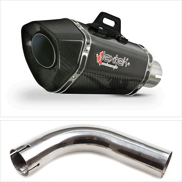 Lextek XP8C Carbon Fibre Hexagonal Exhaust with Link Pipe for Honda CB1000R (08-17)