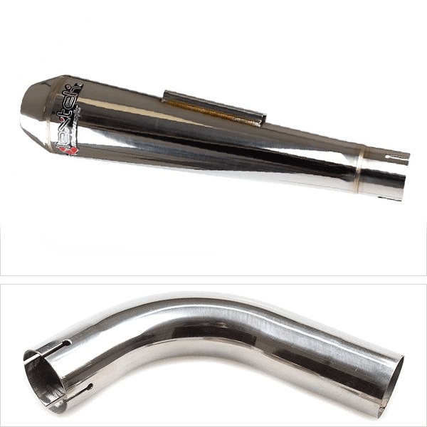Lextek AC1 Polished Classic Exhaust with Link Pipe for Honda CB1000R (08-17)