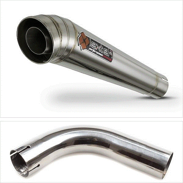 Lextek MP4 S/Steel Megaphone Exhaust with Link Pipe for Honda CB1000R (08-17)