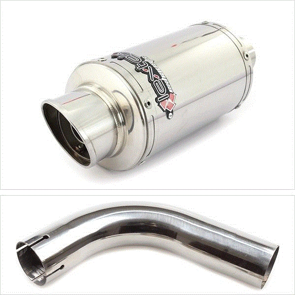 Lextek YP4 S/Steel Stubby Exhaust with Link Pipe for Honda CB1000R (08-17)