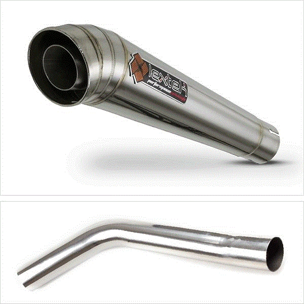 Lextek MP4 S/Steel Megaphone Exhaust with Link Pipe for Triumph Tiger 800 (10-19)