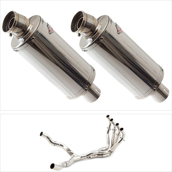 Lextek OP5 Twin Exhaust System for Kawasaki Z1000 (10-19)