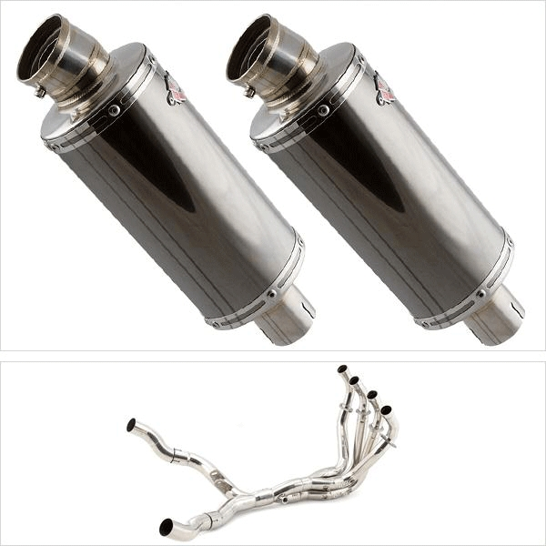 Lextek OP16 Twin Exhaust System for Kawasaki Z1000 (10-19)