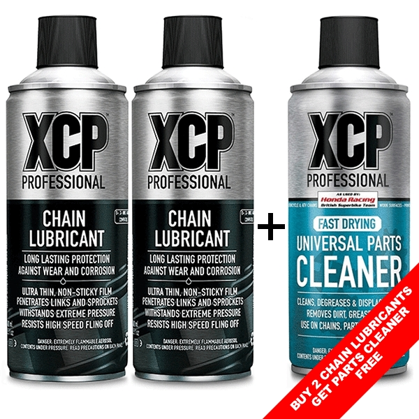 2x XCP Chain Lubricant + 1x Universal Parts Cleaner FREE
