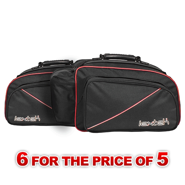 Lextek Motorcycle/Scooter Panniers 50L (6 for the price of 5)
