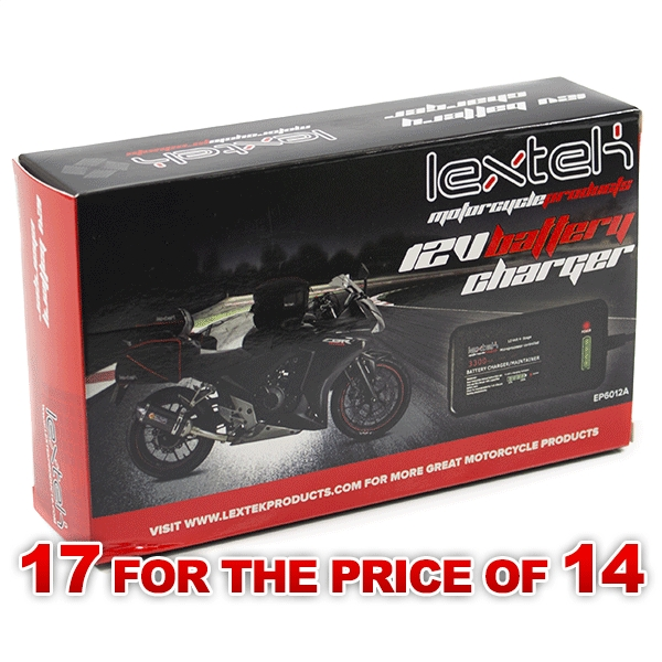 Lextek 12v Battery Optimiser Charger (17 for the price of 14)