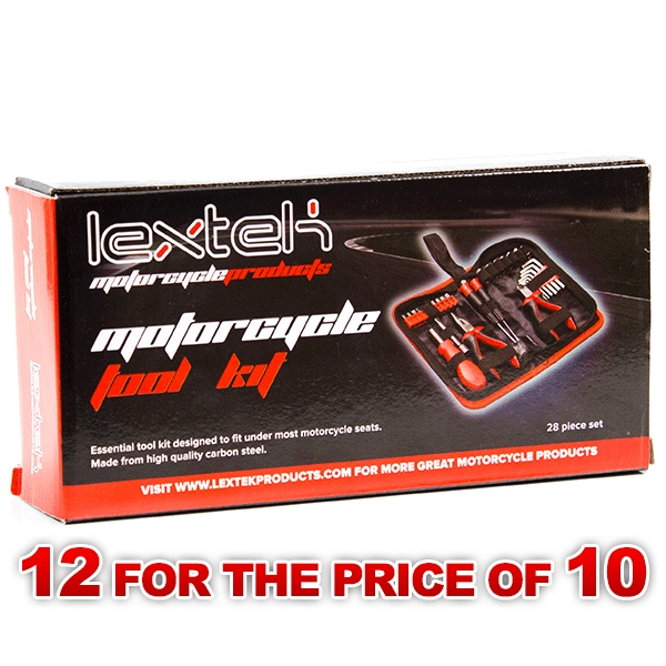 Lextek Motorcycle/Scooter Underseat Tool Kit (12 for the price of 10)