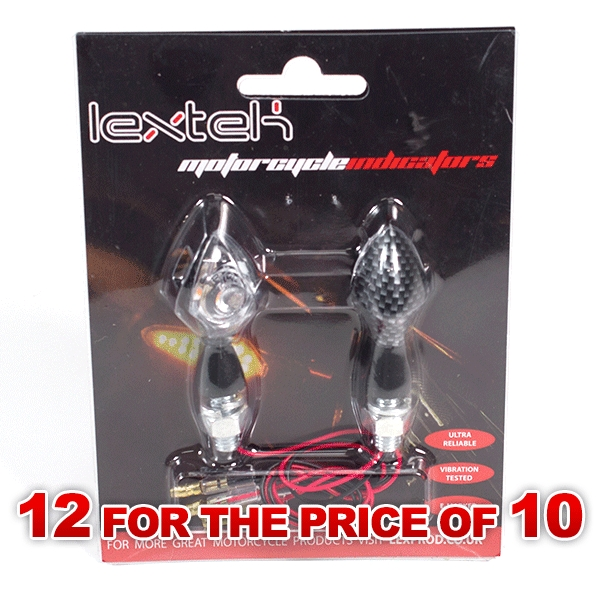Lextek Carbon Effect SMD LED Micro Indicators (12 for the price of 10)